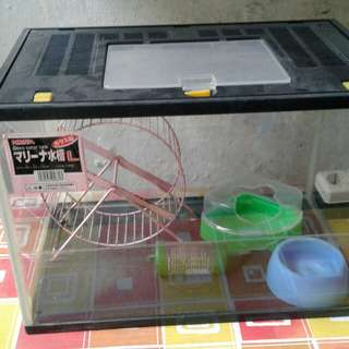 Tempat hamster satu set