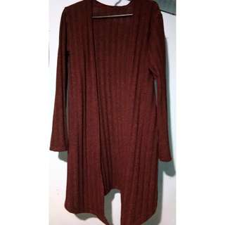Long Cardigan (Maroon)