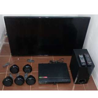 43inches LG Smart T.V. and LG Home Theater