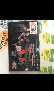 Transformer EZ-Link n Nets FlashPay Card- Optimus prime