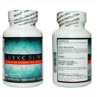 Luxxe Slim - L-Carnitine & Green Tea Extract 60 Capsules (500mg)