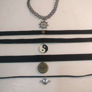 Black Velvet, Tattoo and Cord Chokers