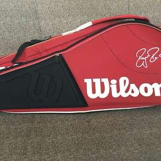 Wilson tennis racket bag red