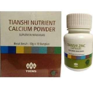 Zinc capsule and calsium powder