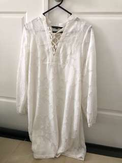 French connection white dress size 6