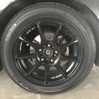 Want to sell - Rims & tyre