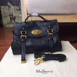 mulberry郵差包。油蠟皮