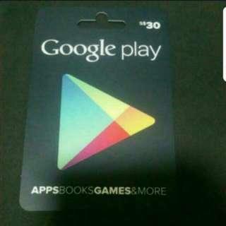 5 Percent Off Google Play Card (Sgd)