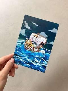 One Piece Thousand Sunny Postcard