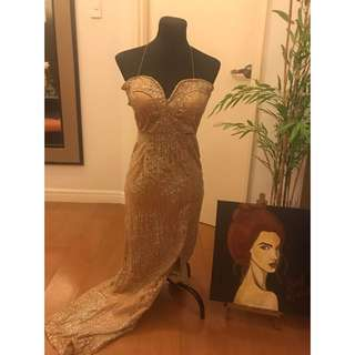 Long Evening Gold Gown