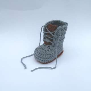 BABY BOOTIES: Baby Shoes, Baby Lace Up Boots, Baby Boots (Crochet)
