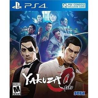 [ALMOST NEW] Yakuza 0 PS4