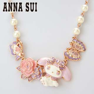 Japan Sanrio My Melody × ANNA SUI × LARME Necklace (roses)