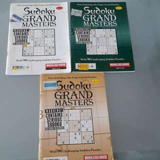 Sudoku Books x3