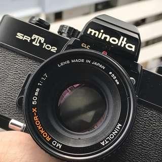 *RARE* Black Minolta SRT 102 + 50mm F1.7 [Professionally Serviced]