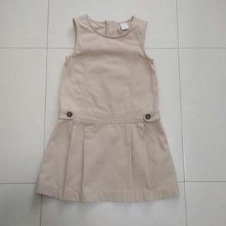 (A3) Khaki Kid's Dress