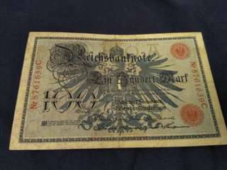 1908 100 German mark for sale