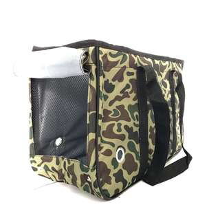 Large High quality pet dog carrier bag cat camo cute luxury poodle puppy kitten green bag