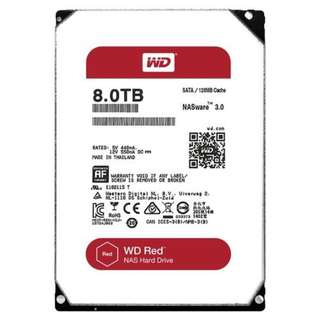 BNIB - WD RED 8TB NAS Hard Disk 5400RPM 128MB Cache
