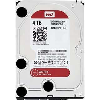 BNIB - WD RED 4TB NAS Hard Disk SATA 6Gbs 5400RPM 64MB Cache