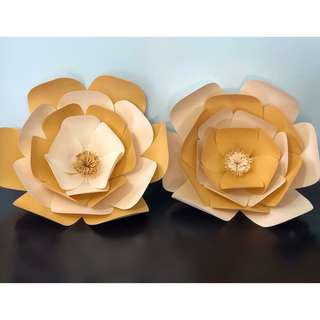Handmade Huge Paper Flowers for Party Decor
