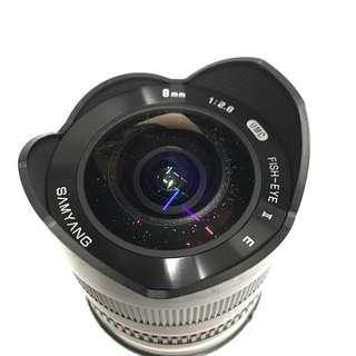 Samyang 8mm f2.8 UMC Fish-eye II for Sony E Mount