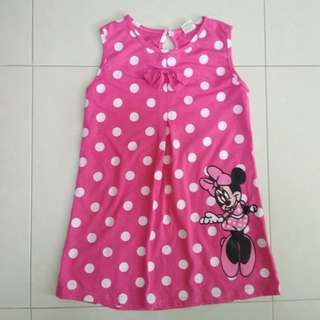 (A3) Kid's Pokka Dot Dress