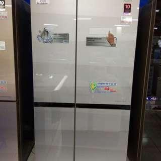 Kulkas Aqua Side by Side, bisa dicicil tanpa kartu kredit