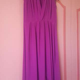 Red violet casual gown