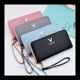 Long Purse / Long Wallet in Pink / Black / Purple / Blue