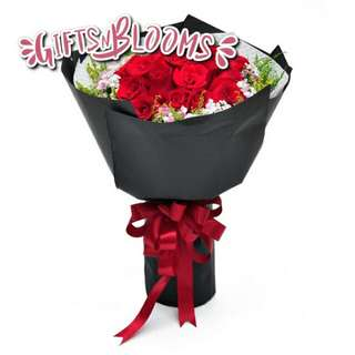 Fresh Flower Bouquet Anniversary Birthday Flower Gifts Graduation Roses Sunfowers Baby Breath -  2C152