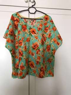 New Floral Top (Good Quality) M to XL