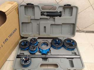 "Alat senai pipa besi manual 1/2""s/d 2"" made in Taiwan."