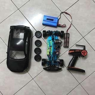 Rc car 1/10 touring/drift aluminium chasis 416