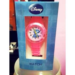 🚚 粉色史迪奇造型手錶~有保固哦✨