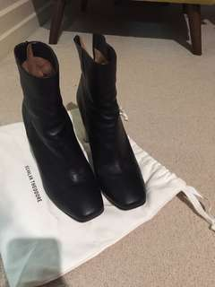 Scanlan Theodore Black Heeled Boots