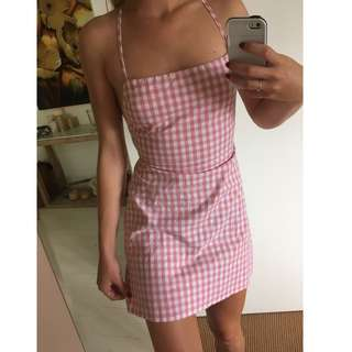 Rumor Boutique Chekered Dress