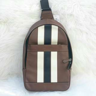 Readystock. Authentic Coach Charles Pack in Dark Saddle