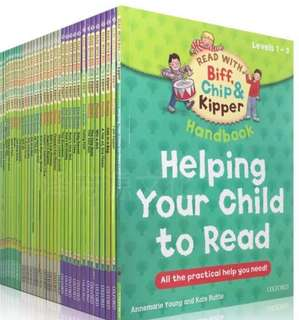 Biff,Chip&Kipper hand book Helping Your Child to read Phonics English story Picture book
