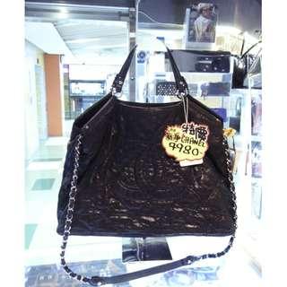 Chanel CC Logo Black Leather Chain Shoulder Hand Bag 香奈兒 黑色 牛皮 皮革  鍊袋 肩袋 手挽袋 手袋 袋