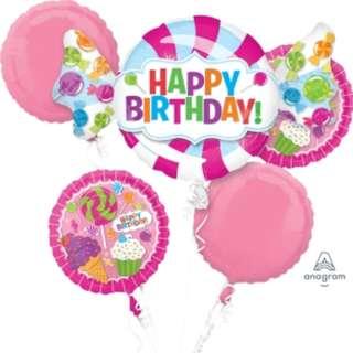 Sweet Shop Balloon Bouquet (Helium w/ Weight) (Item #: 31618)
