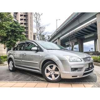 全額貸專區。2007年 福特 FOUCS 1.8L 銀色 最頂級 天窗 恆溫 3500元交車 可履約保證無泡水重故泡水