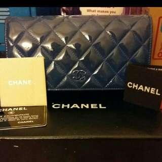 Chanel漆皮長款銀包(全套)