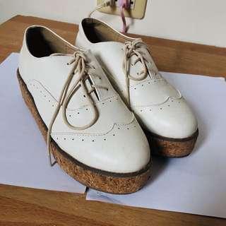 牛津厚底鞋