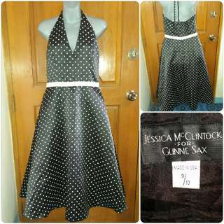 Jessica McClintock Vintage Polka Gown