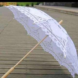 Vintage white lace umbrella