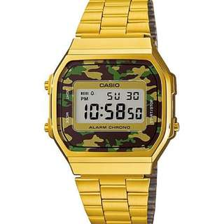 Casio A168 WEGC-3DF gold Original
