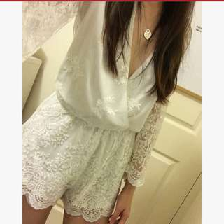 BNWT White Lace Playsuit