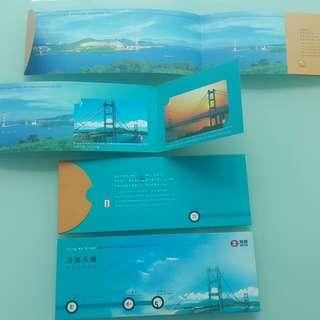 青馬大橋百萬行紀念車票Tsing Ma Bridge Walk for a Million Souvenir Tickets ~ 1997年回歸前發行