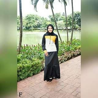 FF - 0318 - Dress Gamis Busana Muslim Lerin